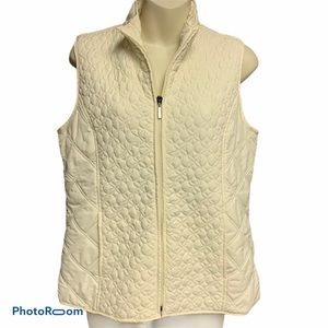 Relativity cream quilted vest size Small
